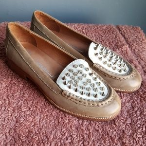Jeffrey Campbell Ibiza Academy Silver Spike Loafer